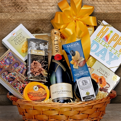 Moet & Chandon Imperial Brut Champagne Themed Gift Basket