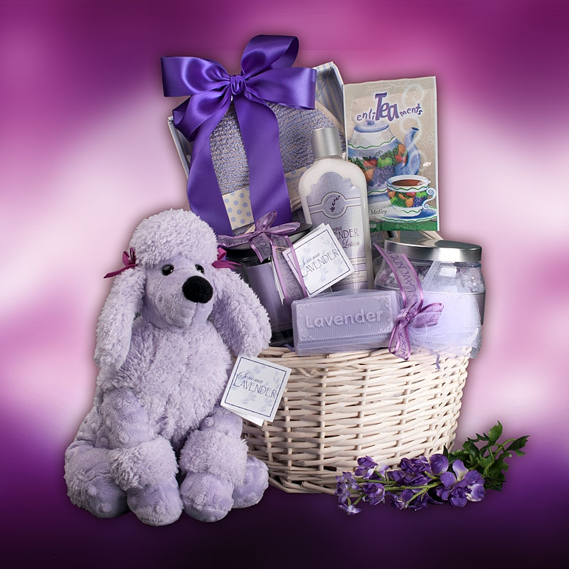 Lavender Ultimate Spa Gift Basket By Broadwaybasketeers Com: Relaxing Lavender Spa Gift Basket