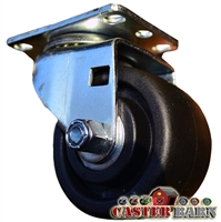 3 Inch Low Profile Swivel Caster Plate Mount - 03 Series | CasterHQ