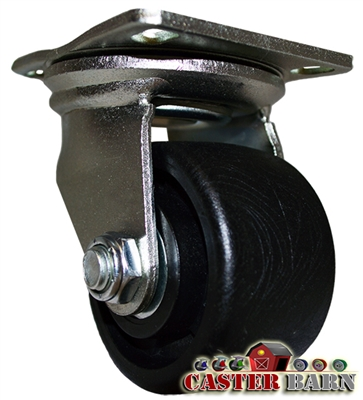 3 Inch Low Profile Swivel Caster Plate Mount
