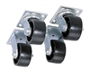 "JOBOX JOBSITE 4"" Casters - Set of 4 - 1-320990"