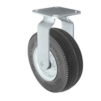 "8"" Flat Free Rigid Caster - 8"" x 3"" Foam Filled Tire - 275 lbs Capacity"