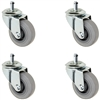 "60mm (3"") Dinette Chair Caster Set of 4 - Gray Thermo Plastic Rubber Wheels"