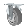 "3-1/2"" X 1.25"" Thermo Rubber Wheel - Rigid Caster - 230 lbs Capacity"