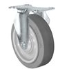 "4"" X 1.25"" Thermo Rubber Wheel - Rigid Caster - 300 lbs Capacity"