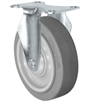 "5"" X 1.25"" Thermo Rubber Wheel - Rigid Caster - 315 lbs Capacity"