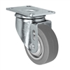 "3-1/2"" X 1.25"" Thermo Rubber Wheel - Swivel Caster - 230 lbs Capacity"