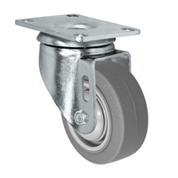 "3"" X 1.25"" Thermo Rubber Wheel - Swivel Caster - 225 lbs Capacity"