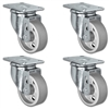 "5"" X 1.25"" Steel Wheel Caster Set of 4 - All Swivel Casters - 1,400 lbs Capacity Per Set"