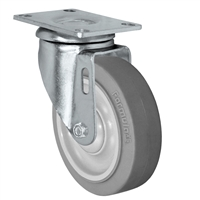 "4"" X 1.25"" Thermo Rubber Wheel - Swivel Caster - 300 lbs Capacity"