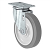 "5"" X 1.25"" Thermo Rubber Wheel - Swivel Caster - 315 lbs Capacity"