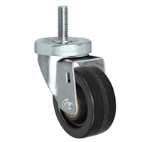 "3"" Threaded Stem Caster - Swivel Caster with Phenolic Wheel - 350 lbs Per Caster - 1/2"" x 1-1/2"" Long Threaded Stem Caster"