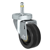 "3"" X 1-1/4""  Phenolic Wheel - Swivel Caster - 7/16"" x 1-3/8""  Grip Ring Stem Caster -  350 LBS Load Capacity"