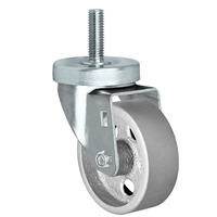 "3"" Threaded Stem Caster - Swivel Caster with Semi-Steel Wheel - 350lbs Per Caster - 1/2"" x 1-1/2"" Long Threaded Stem Caster"