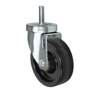 "4"" Threaded Stem Caster - Swivel Caster with Phenolic Wheel - 350 lbs Per Caster - 1/2"" x 1-1/2"" Long Threaded Stem Caster"