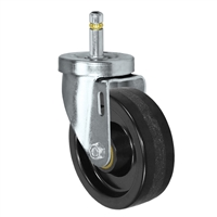 "4"" X 1-1/4""  Phenolic Wheel - Swivel Caster - 7/16"" x 1-3/8""  Grip Ring Stem Caster -  350 LBS Load Capacity"
