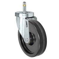 "5"" X 1-1/4""  Phenolic Wheel - Swivel Caster - 7/16"" x 1-3/8""  Grip Ring Stem Caster -  350 LBS Load Capacity"