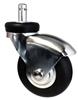 "60mm (3"") Office Chair Caster - Premium Black Neoprene Rubber Wheel"