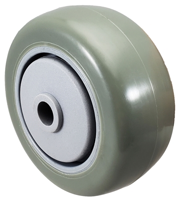 "3"" x 1-1/4"" Gray Polyurethane Wheel for Casters or Equipment 250 lbs Capacity"