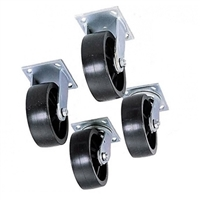 "JOBOX JOBSITE 6"" Casters - Set of 4 - 1-321990"