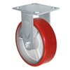 "4"" x 2"" Red Polyurethane on Iron Wheel 