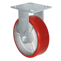 "5"" x 2"" Red Polyurethane on Iron Wheel 