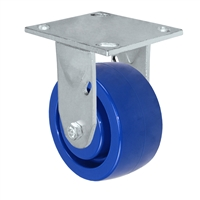 "4"" x 2"" Solid Polyurethane Wheel - Rigid Caster - 800 lbs capacity - Plate Size: 4-1/2"" x 6-1/4"""