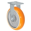 "8"" x 2"" Sirius HD Donut Polyurethane on Aluminum Wheel - Rigid Casters - Plate Size: 4-1/2"" x 6-1/4"" - Capacity: 1,500 lbs"