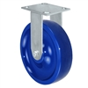 "8"" x 2"" Solid Polyurethane Wheel - Rigid Caster - 1,400 lbs capacity - Plate Size: 4-1/2"" x 6-1/4"""
