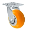 "4"" x 2"" Sirius HD Donut Polyurethane on Aluminum Wheel - Swivel Casters - Plate Size: 4-1/2"" x 6-1/4"" - Capacity: 1,000 lbs"