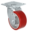 "8"" x 2"" Red Polyurethane on Iron Wheel 