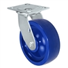 "6"" x 2"" Solid Polyurethane Wheel - Swivel Caster - 1,000 lbs capacity - Plate Size: 4-1/2"" x 6-1/4"""