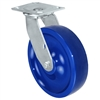 "8"" x 2"" Solid Polyurethane Wheel - Swivel Caster - 1,400 lbs capacity - Plate Size: 4-1/2"" x 6-1/4"""