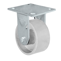 "5"" x 2"" Kingpinless Rigid Caster - Semi Steel Gray Iron Wheel -  1,000 lbs Capacity"