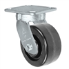 "5"" x 2"" Kingpinless Swivel Plate Caster - Phenolic Wheel - 800 lbs Capacity Per Caster - 4"" x 4-1/2"" Top Plate"