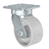 "4"" x 2"" Kingpinless Swivel Caster - Semi Steel Gray Iron Wheel -  700 lbs Capacity"