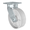 "6"" x 2"" Kingpinless Swivel Caster - Semi Steel Gray Iron Wheel -  1,200 lbs Capacity"