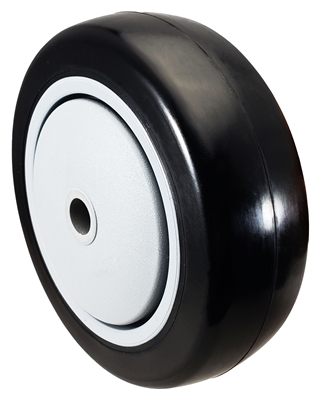 "4"" x 1-1/4"" Black Polyurethane Wheel for Casters or Equipment 300 lbs Capacity"