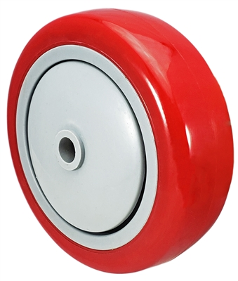 "4"" x 1-1/4"" Red Polyurethane Wheel for Casters or Equipment 300 lbs Capacity"