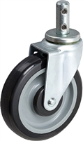 "5"" REAR SWIVEL SHOPPING CART CASTER"