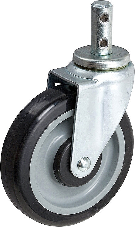 "Two 5/"" Polyurethane Shopping Cart Replacement Casters"