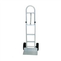 High Loop Handle Hand Truck - The AHT-01H-P is a 60″ aluminum hand truck with a high stacking loop handle with an 18″ x 10″ solid extruded nose plate.