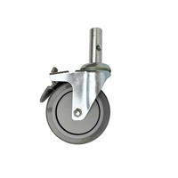 5″ TPR Stem Swivel Caster with Brake
