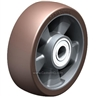 "ALB-160-20K - 6-5/16"" x 2"" Blickle Heavy Duty Wheel with Blickle Besthane® Polyurethane Tread on Aluminum Wheel Center"