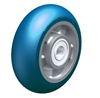 "ALBS-160-20K-CO - 6"" x 2"" Heavy duty wheel with Blickle Besthane® Soft polyurethane tread, with aluminum wheel center, extra crowned"