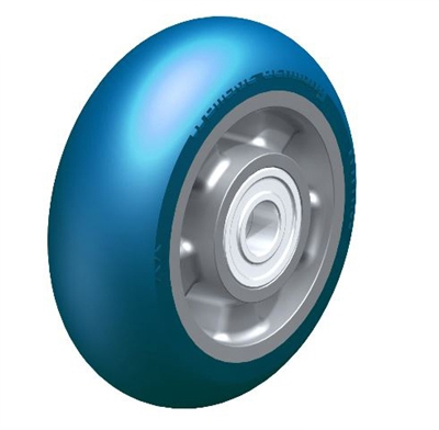 "ALBS-150-20K-CO - 6"" x 2-1/8"" Heavy duty wheel with Blickle Besthane® Soft polyurethane tread, with aluminum wheel center, extra crowned"