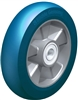 "ALBS-200-20K-CO - 8"" x 2"" Heavy duty wheel with Blickle Besthane® Soft polyurethane tread, with aluminum wheel center, extra crowned"