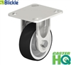 "BKSX-POEV-100XKA-14-SG - 4"" X 1-1/2"" Rigid Caster with Elastic Solid Rubber Tires 'Blickle EasyRoll' on a Nylon Wheel Center"