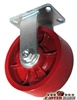 "6"" x 3"" Kingpinless Rigid Caster - Ductile Steel Wheel - 6,000 Lbs Capacity"