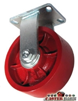 "8"" x 3"" Kingpinless Rigid Caster - Ductile Steel Wheel - 6,000 Lbs Capacity"
